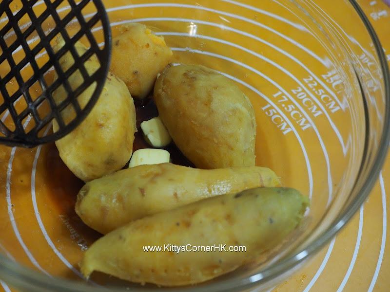 grilled sweet potato tart DIY recipe 甜薯燒自家烘焙食譜
