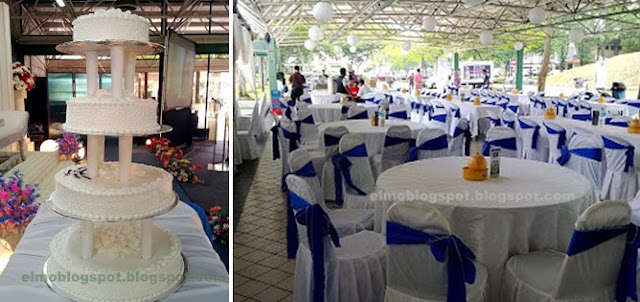 dark purple ribbon, big wedding