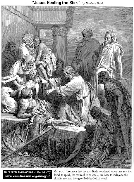 Jesus Healing the Sick - Gustave Dore