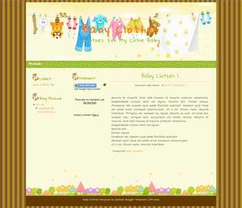 Cutie Baby blogger template. cute design blogger template. cute blogpot template free