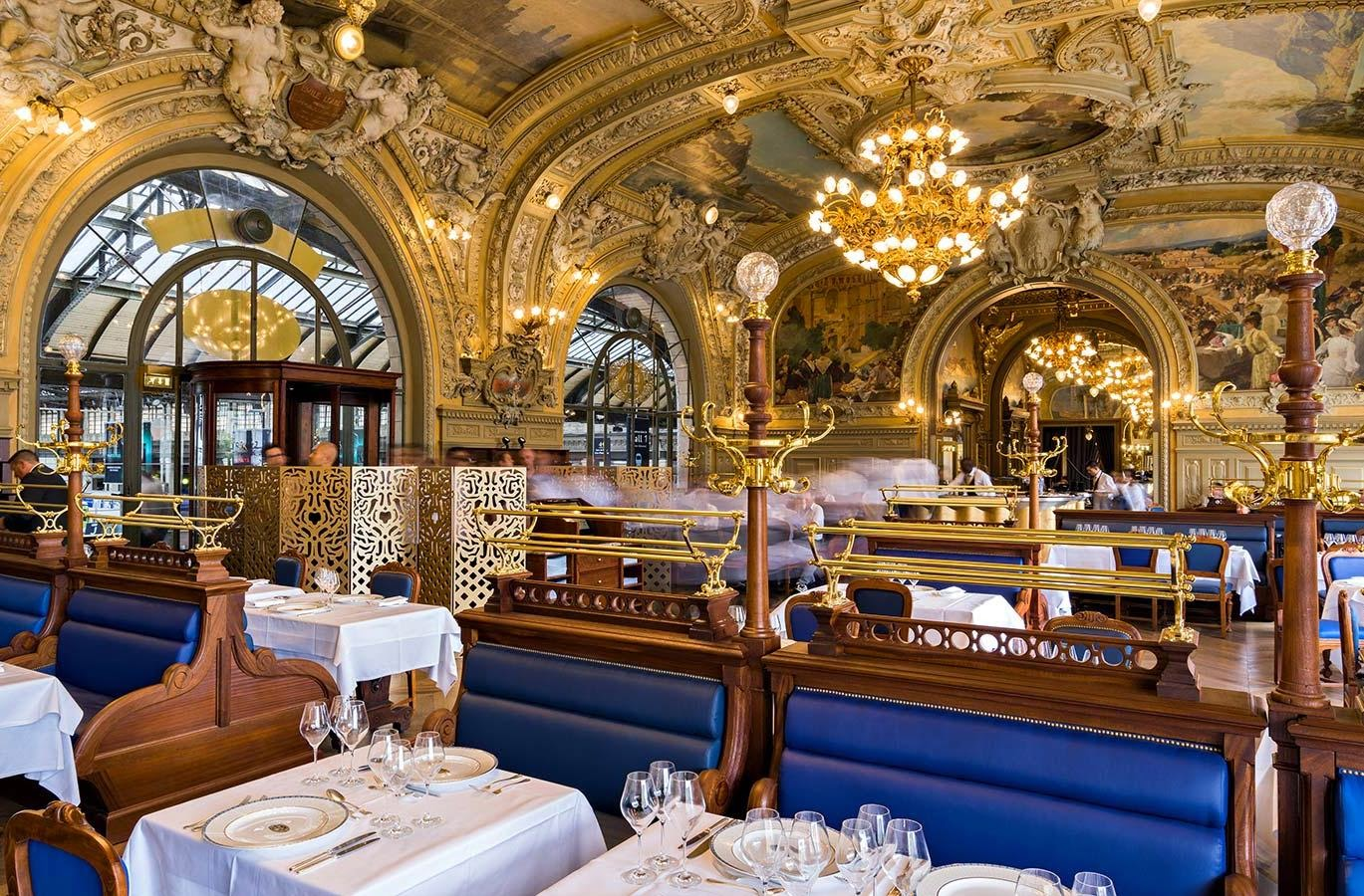 art and architecture mainly le train bleu in paris a very glamorous railway station restaurant. Black Bedroom Furniture Sets. Home Design Ideas