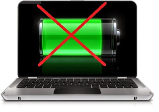 Cara Memperbaiki Baterai Laptop Notebook Rusak Tanda Silang