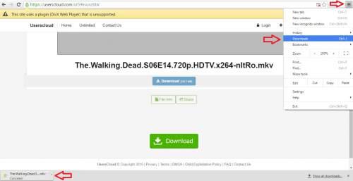 Tempat melihat hasil download