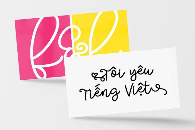 Font viết tay Bobbles Script Việt hóa