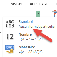 Sélectionner Format Standard