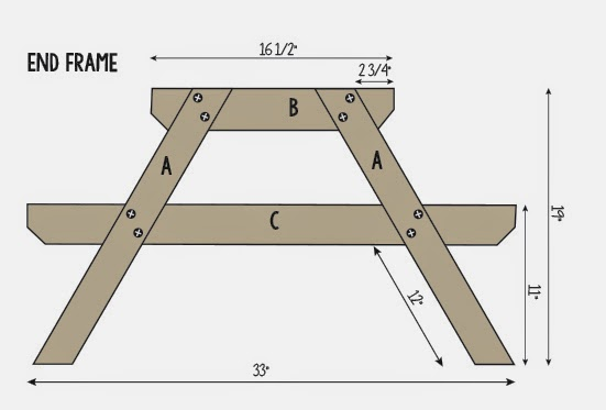 folding bench picnic table plans free | Quick Woodworking ...