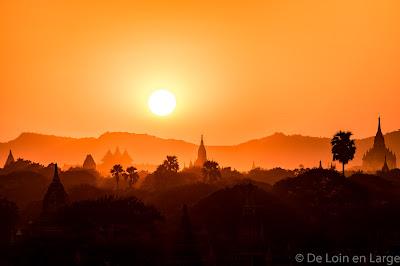Coucher de soleil - Sunset - Bagan