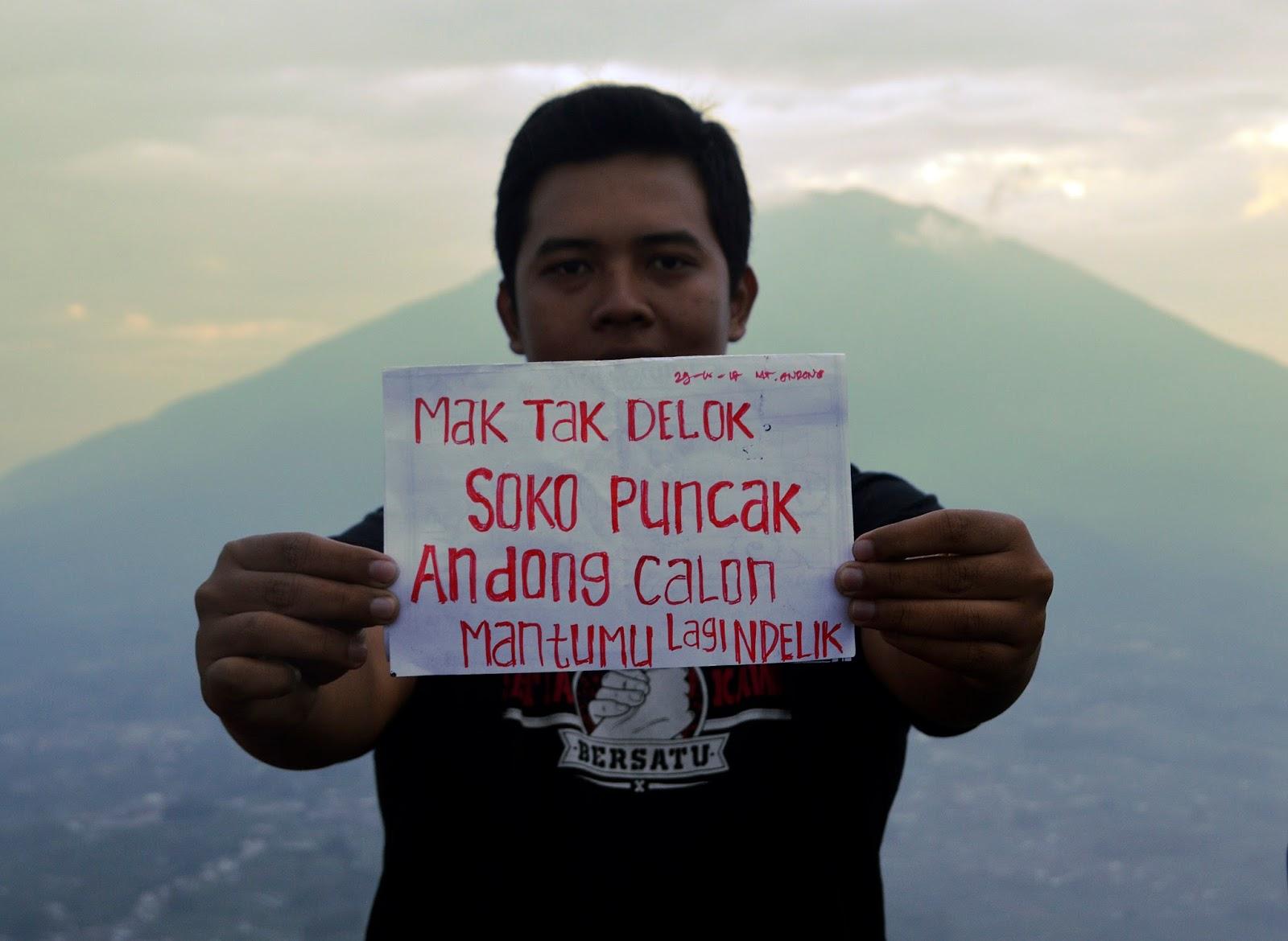 wisata pendakian di gunung andong peak magelang