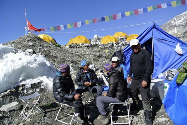 Sherpa Guide on Mount Everest