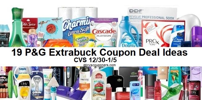 http://www.cvscouponers.com/2018/12/cvs-p-g-extrabuck-coupon-deal-ideas.html