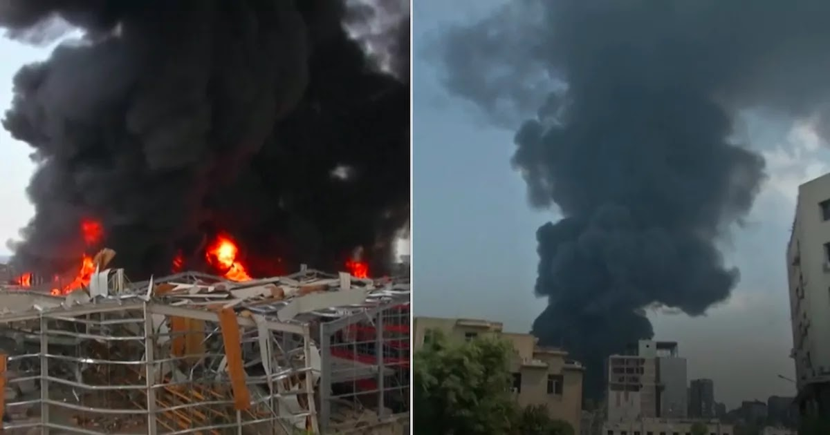Fire Breaks Out In The Port Of Beirut As 4 Tonnes Of Ammonium Nitrate Is Discovered Just One Month After An Explosion Devastated The City
