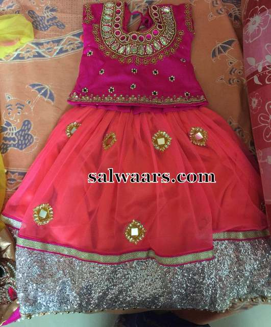 Peach and Pink Lehenga
