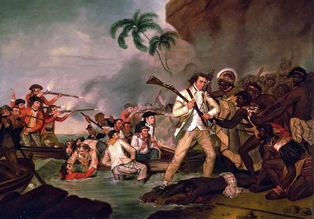Смерть капитана Джеймса Кука. Блог Удивительный мир.