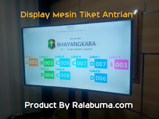 Display Mesin Tiket Antrian