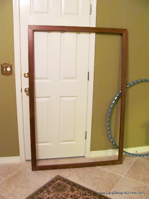 large wood mirror frame