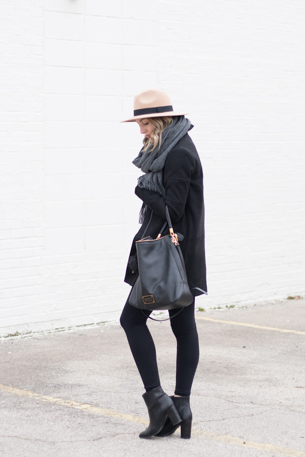 Cozy black peacoat