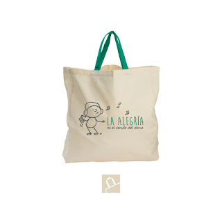 bolsas de algodon personalizadas a dos tintas en serigrafia
