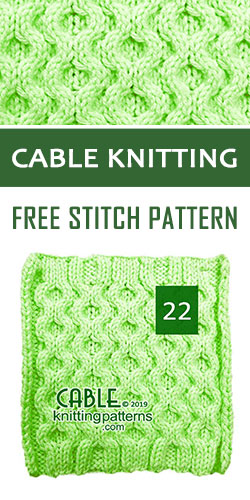 Cable Knitting Free Stitch Pattern 22