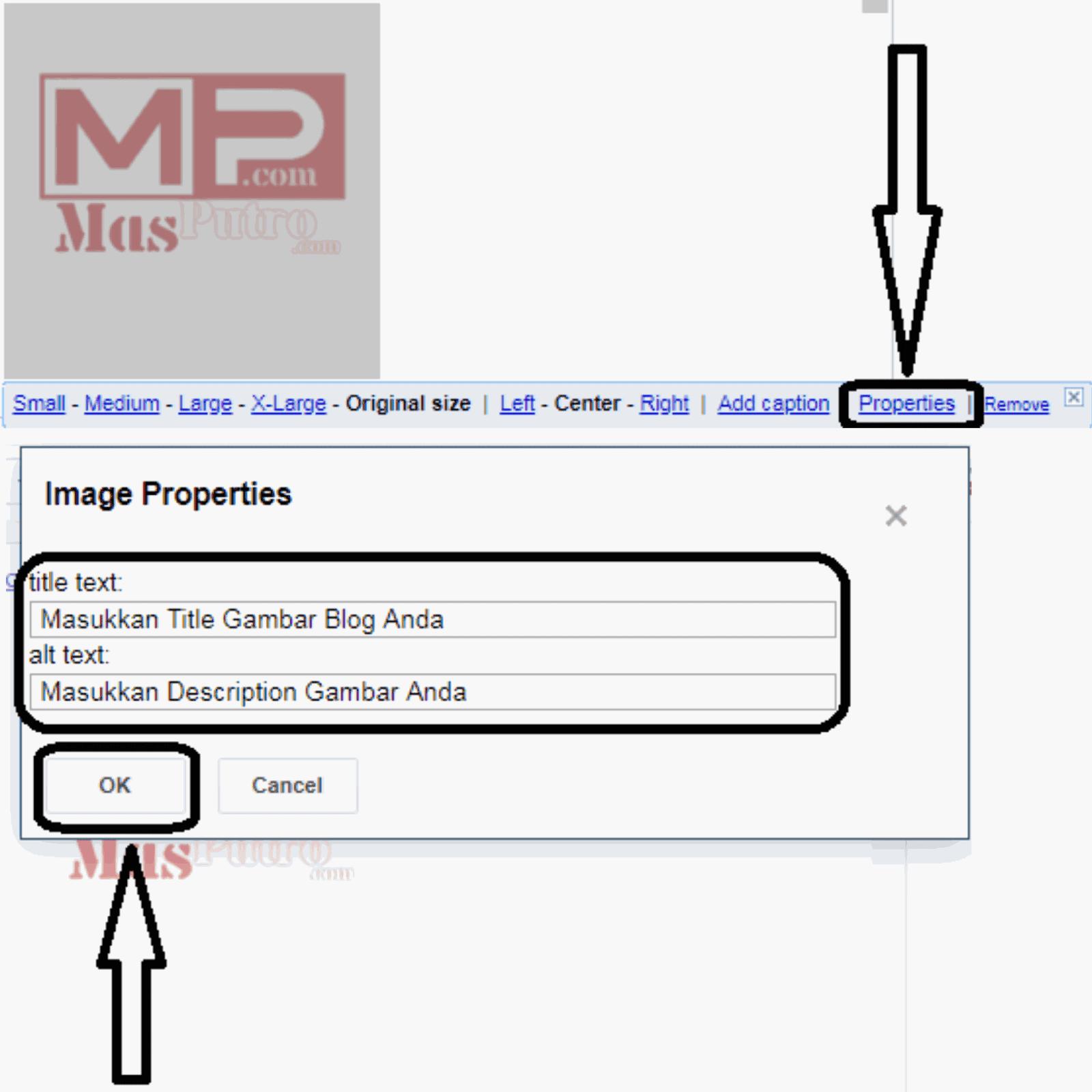 Menerapkan Atribut Tag Alt / Title Secara Manual