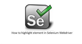 Highlight element in Screenshot & Store it using Selenium WebDriver