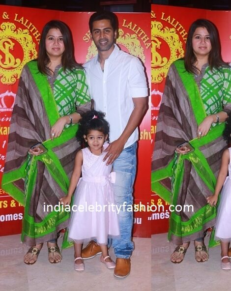 Actress Sangeetha Family at Shobi Lalitha's Daughter Birthday