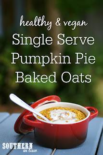 Healthy Single Serve Pumpkin Pie Baked Oats Recipe