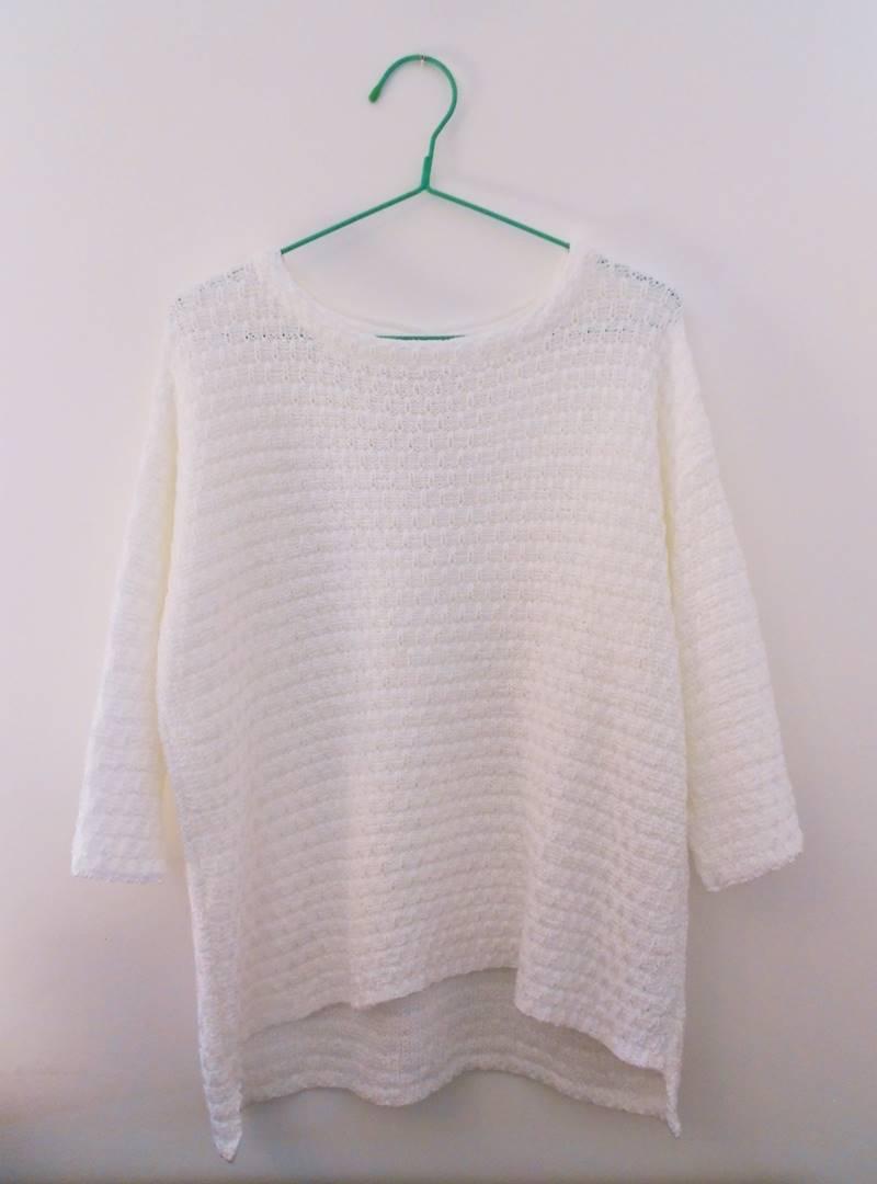 new in | White sweater from Zara