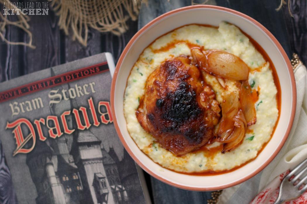 Paprika Roast Chicken over Mamaliga | Bram Stoker's Dracula