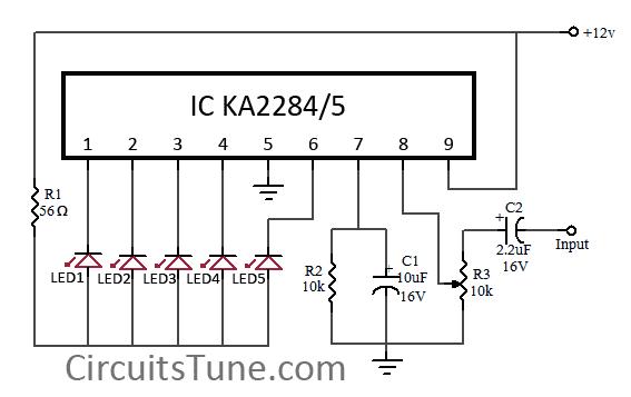 led vu display circuit