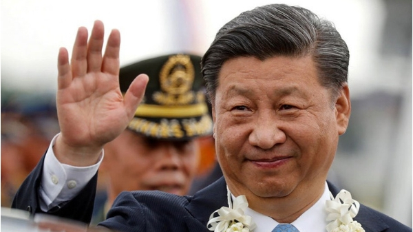 Chinese President Xi Jinping arrived today at NAIA