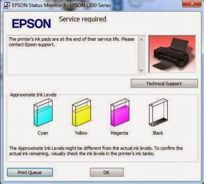 Mengatasi Error Blinking Epson L100