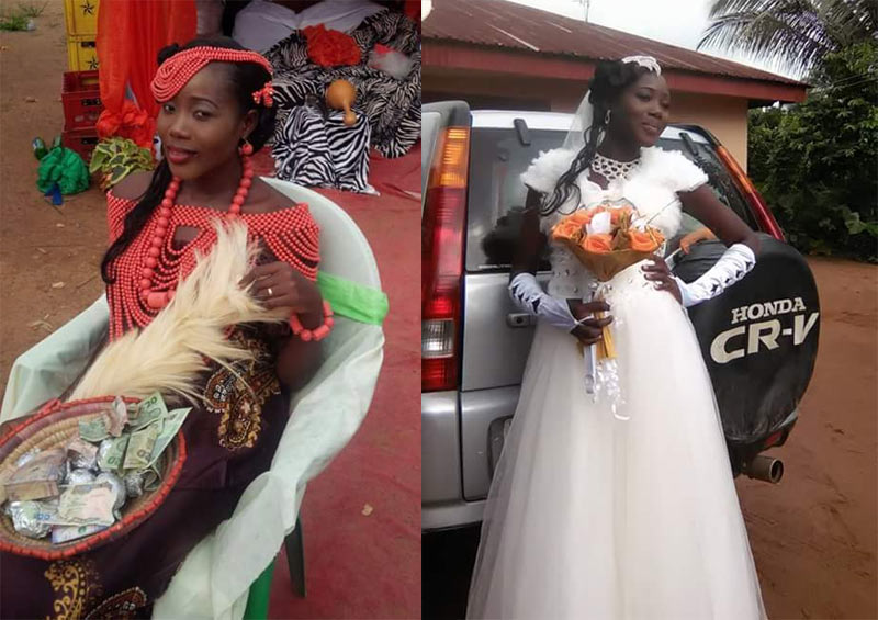 Gosh! Woman dies exactly 1 month after white wedding