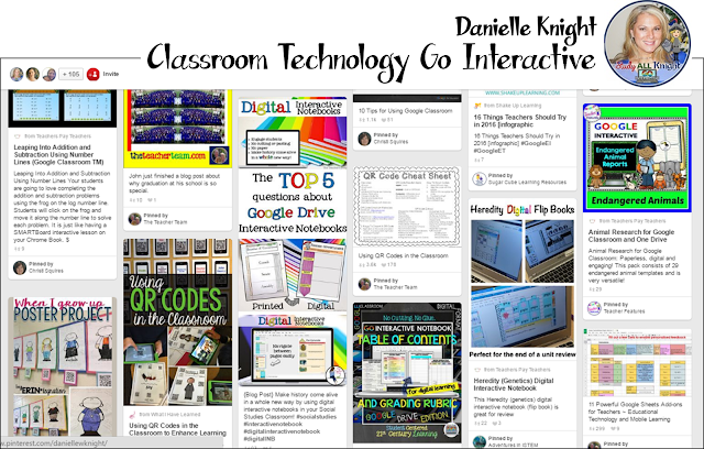 Are you looking for awesome technology Pinterest boards for teachers to follow? Then you'll love this post! There are 13 great boards to help with technology in the classroom. You'll get ideas for iPads, tablets, Google classroom, organization of technology, classroom management revolving around technology, and everything else related to technology! Check it out today!!