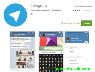 Anda bisa mendapatkan aplikasi telegram pada halaman ini.
