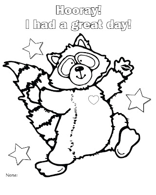 Chester Raccoon Page Coloring Pages