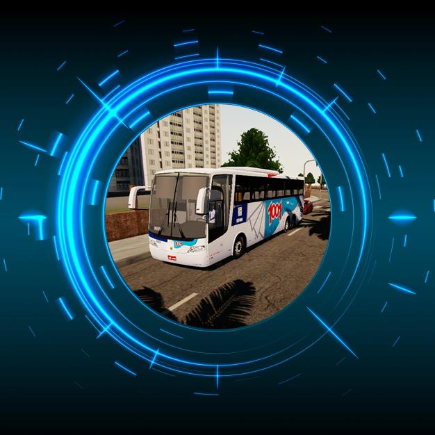 Skin Proton Bus Simulator Road - Vissta Buss HI O-500 RSD Auto Viação 1001