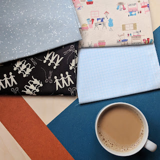 modern quilting fabric Celtic Fusion Fabrics Kokka