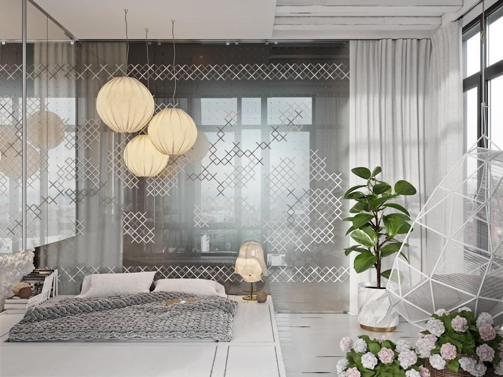 grey-mist-chinese-lanterns-accent-wall-decor