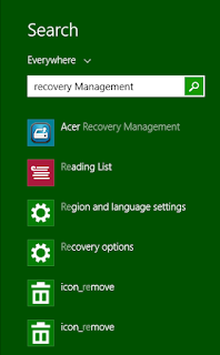 recovery options di windows