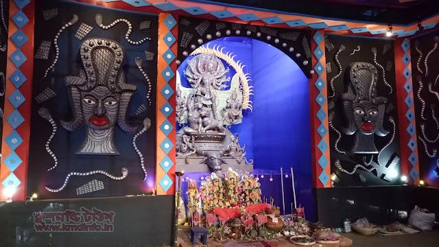 কালিয়াগাঞ্জ দুর্গা পূজা একসঙ্গে সব প্রতিমা প্যান্ডেল- অনলাইন দুর্গা পূজা ২০১৮