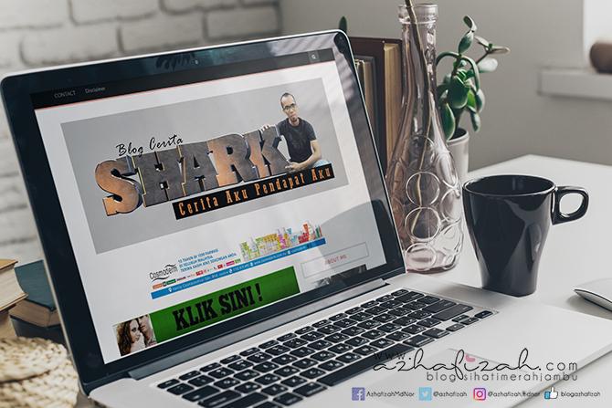Tempahan Design Header Blog Cerita Shark