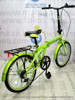 Sepeda Lipat Evergreen X8 6 Speed 20 Inci Green
