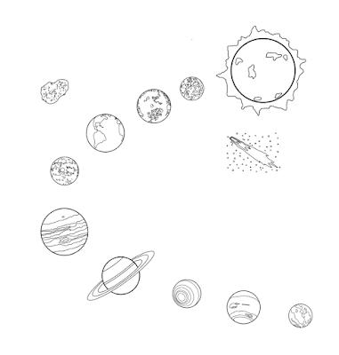 Gambar mewarnai planet - 6