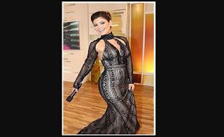 chiquinquira vestido gala negro
