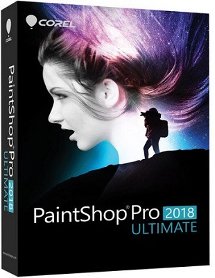 Corel PaintShop Pro 2018 Ultimate 20.0.0.132 poster box cover