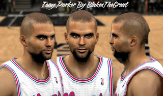 NBA 2K13 Cyber Face Tony Parker
