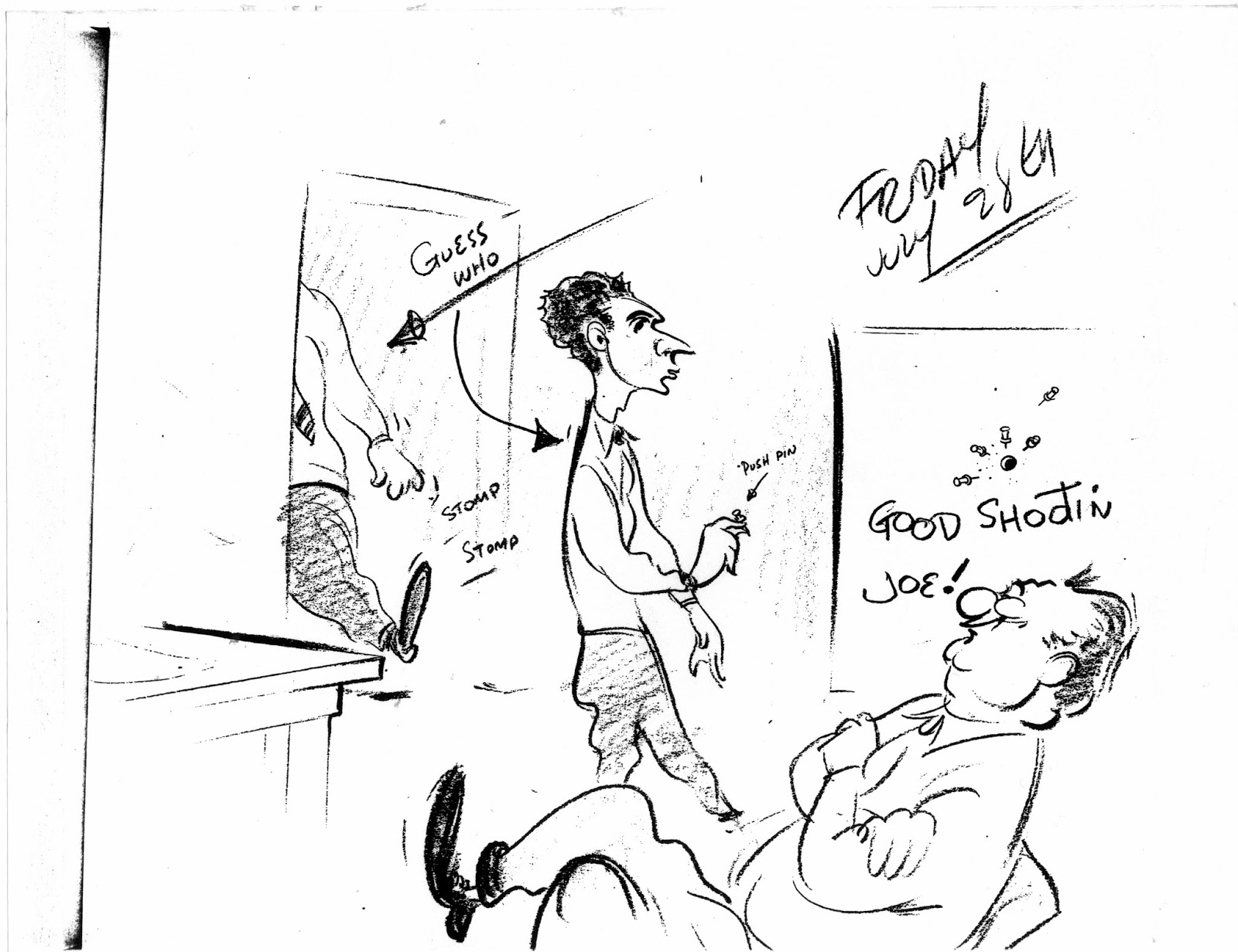 Filboid Studge: Irv Spence's Cartoon Diary: July 28, 1944