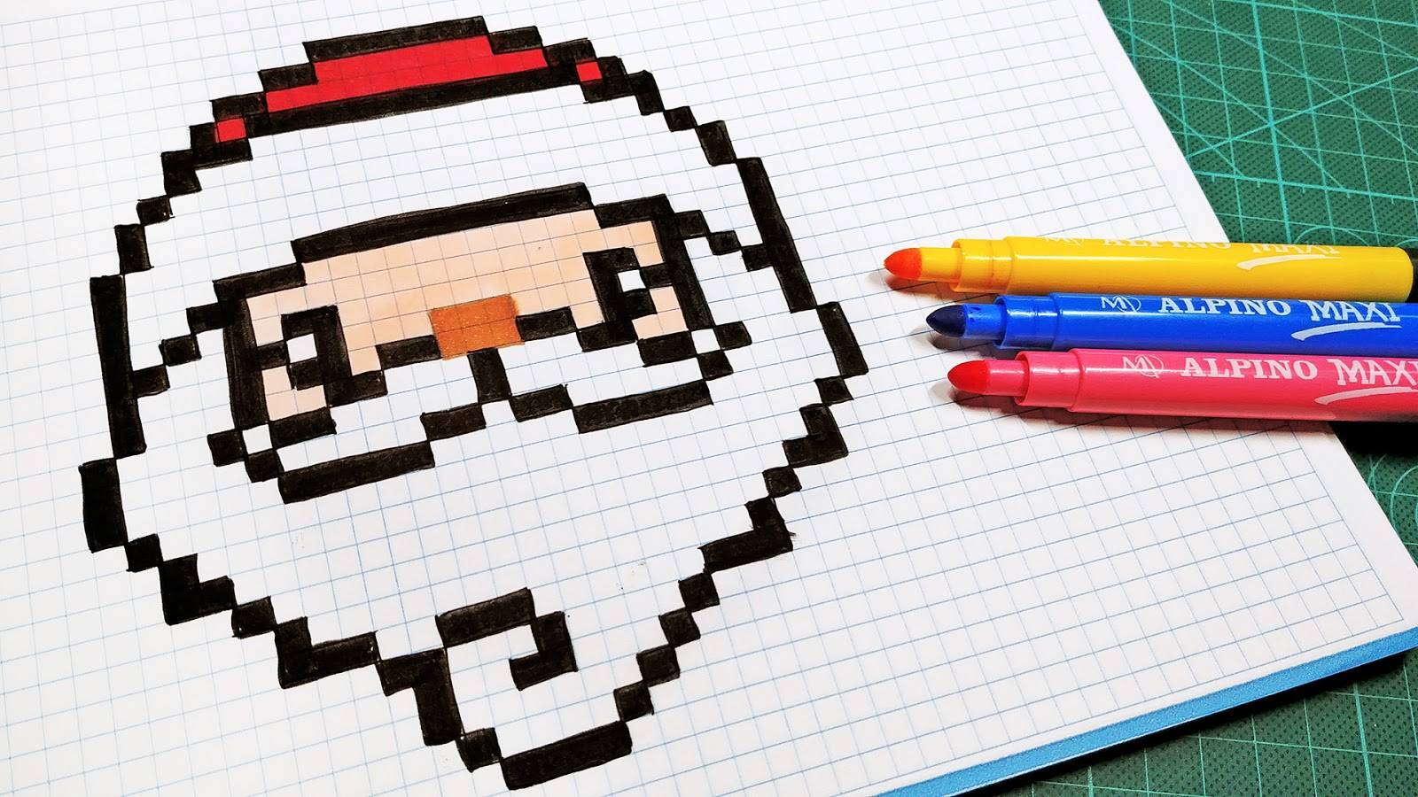 Christmas Pixel Art How To Draw Santa Claus Pixelart