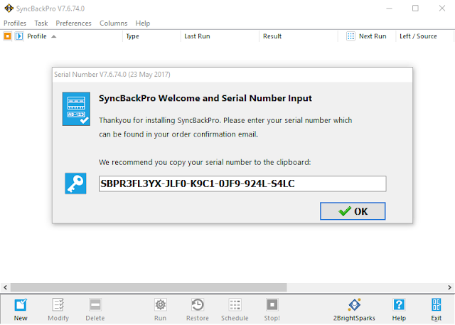 SyncBackPro 7.6.74 Seriak Key