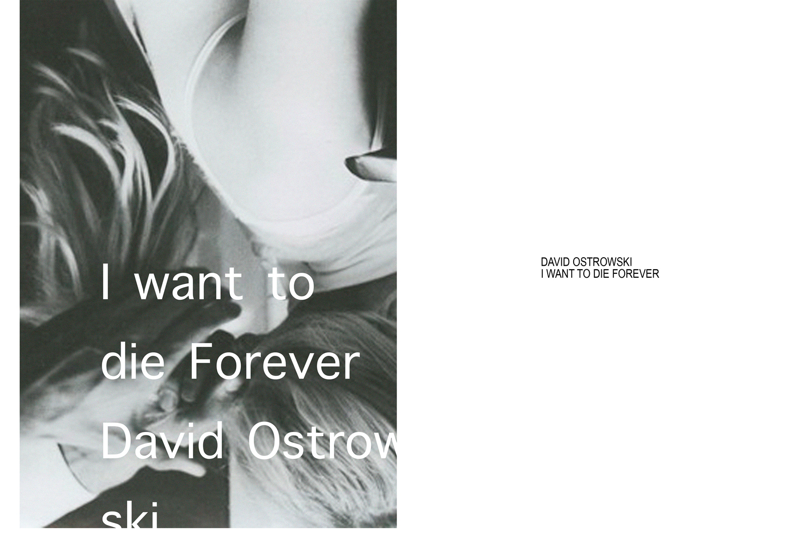 David Ostrowski, I want to die forever